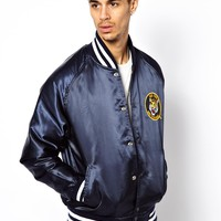 Reclaimed Vintage Bomber Jacket in Satin