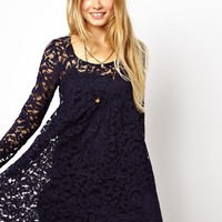 ASOS Smock Dress In Lace