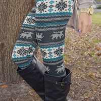 It'll Be A Blue Christmas Leggings: Multi