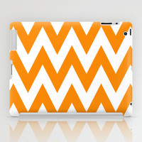 Team Spirit Chevron Orange and White iPad Case by Team Spirit