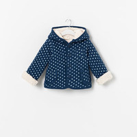 POLKA DOT JACKET WITH SHEEPSKIN LINING