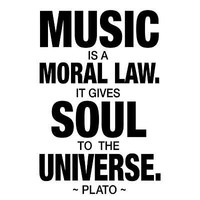 Plato Music Quote Art Print Poster