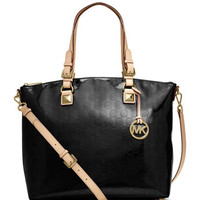 MICHAEL Michael Kors Jet Set Multifunction Monogram Satchel