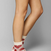 Allover Heart Crew Sock - Urban Outfitters