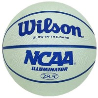 "Wilson Illuminator, Glow in the Dark Intermediate(28.5"") rubber basketball"