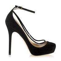 Black Suede Platform Pumps | Platform Shoes | Tantric | JIMMY CHOO Pumps