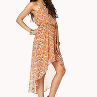 High-Low Zigzag Dress