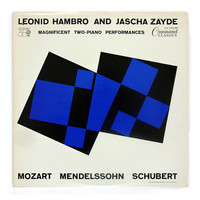 "Josef Albers record album design, 1961. ""Magnificent Two Piano Performances"" LP"