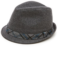 Solid Wool Plaid Fedora