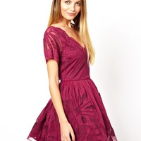 ASOS Gothic Cutaway Skater Dress