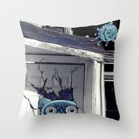 little monsters Throw Pillow by Marianna Tankelevich