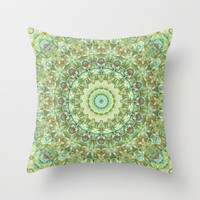 Tranquility Mandala Throw Pillow by Lyle Hatch