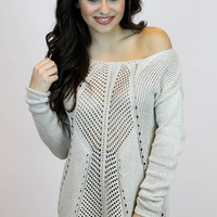 Glitter Knit Sweater | Double Zero