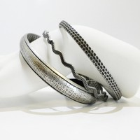 Set of 3 - Antique Finish Bangles Bracelet