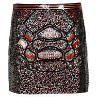 Nola Sequin Front Mini Skirt