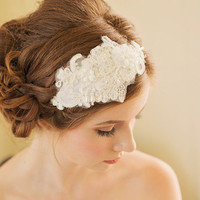 SALE / Bridal Hair Accessory / Lace Hair Accessory / Statement Headpiece (Boneta Bridal Headband)