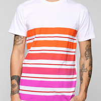 Faded Variegated Stripe Tee - Urban Outfitters