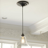 Glass Pendant Shade Adapter for Recessed Can Lights