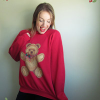 Teddy Bear & Holly Berry Ugly Christmas Sweater