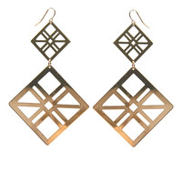 Diamond-Shaped Cutouts Earring | Arden B.