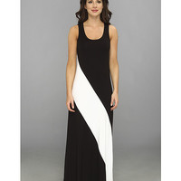 Karen Kane Diagonal Stripe Maxi Dress