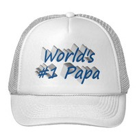 World's #1 Papa 3D Hat, Sea Blue