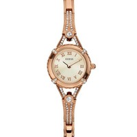 Rose Gold-Tone Petite Crystal Watch | GUESS.com