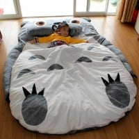 Totoro Double bed Totoro bed Totoro sleeping bag Totoro Design bed Large size (2.3x1.75m)