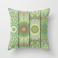 Four-Panel Mandala Throw Pillow by Lyle Hatch