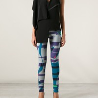 TIEDEKEN geometric print leggings