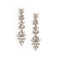 Crystal Rhinestone Floral Earrings