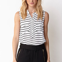 Essential Striped Chiffon Top