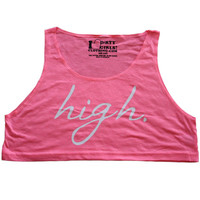 "I Love Dirty Girsl Clothing, Girls ""High"" Crop Top 
