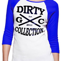 "Girls ""Dirty Collection"" 3/4 Sleeve Raglan 