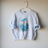 80s Cool Bunny Crop Tee by Zoo Crew
