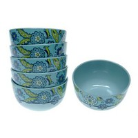 Certified International Capri Blue by Jennifer Brinley 6-pc. Melamine Ice Cream Bowl Set