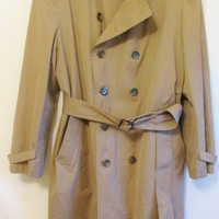 Vintage 1970's Timeless London Fog Insulated Trench Coat