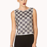 Daring Checkered Crop Top
