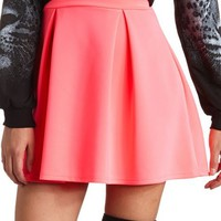 SCUBA PLEAT SKATER SKIRT