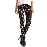 CROSS PRINT COTTON LEGGING