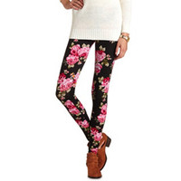 FLORAL PRINT COTTON LEGGING