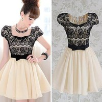 Diamond Bow Lace Dress BADG from threelittlebirds