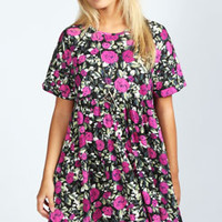 Leena Turn Back Rose Smock Dress