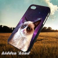 Galaxy Nebula Grumpy Cat,Case,Cell Phone,iPhone 5/5S/5C,iPhone 4/4S,Samsung Galaxy S3,Samsung Galaxy S4,Rubber,18/07/2/Du