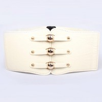 Fashion Metal Button Belt