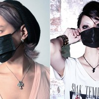 B.M Black Surgical Face Mask Set
