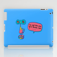 Who am I? iPad Case by PINT GRAPHICS