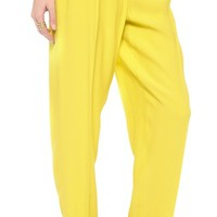 Cedric Charlier Crinkled Wide Leg Pants