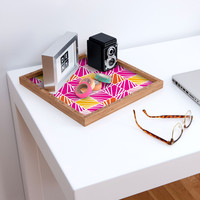 Heather Dutton Facets Bright Square Tray