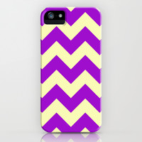 Chevron Plum Dessert iPhone & iPod Case by Alice Gosling